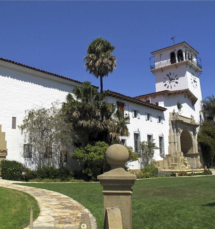 Santa Barbara Courthouse & Clock Tower at California