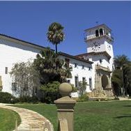 Santa Barbara Courthouse & Clock Tower at California